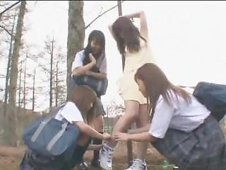 Japanese School Girls Lesbian(tickling)