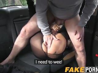 Blonde Busty Milf With Glasses Having Hot Awesome In Taxi