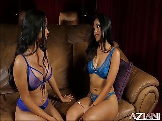 Twins Lesbians Getting Freaky For The 1st Time On Video