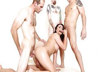 Tgirl Gangbanged By Three Big Cocks
