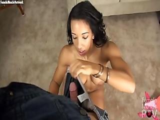 Fit Pornstar Sophia Fiore Pov Muscle Worship And Blowjob