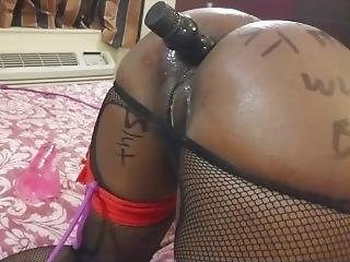 Submissive Teen Slut Tied And Double Penetrated With Butt Plug Then Fucked