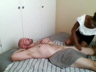 Ebony Masseus Paid To Give Happy Ending Massage Fuck
