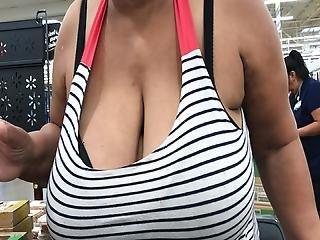 Ebony Granny With Enormous Tits