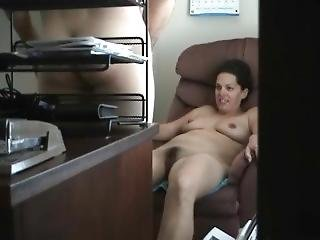 Hidden Camera. Cheating Wife Fucking Her Boss At The Office.