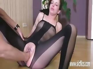 Fisting Teens Pussy Till She Squirts Hard In Orgasm