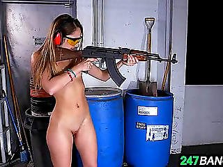 Undressed Dark Brown In A Shooting Range Hd Porn Movies