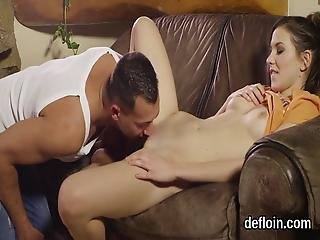 Lovesome Girl Gapes Spread Cunt And Gets Deflowered
