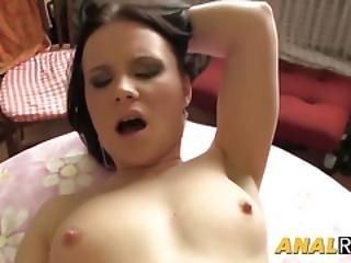 Busty Brunette Cockgobbler Taking A Proper Ass Pounding