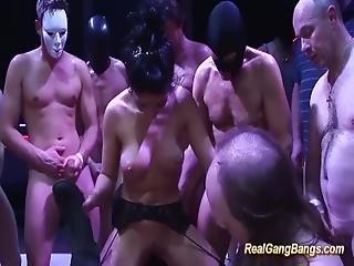 Cute Salma De Nora In A Real Gangbang Orgy