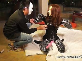 Rubber Dog Bondage Female Mask