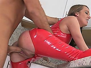 Babe Milf Aria Xcite Fucked In Red Spandex