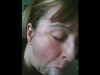Mature House Wife Sucking My Cock While Hubby Is At Work