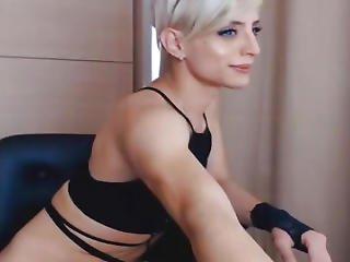 Breathtaking Lady-boy Masturbate Her Shlong On Webcam