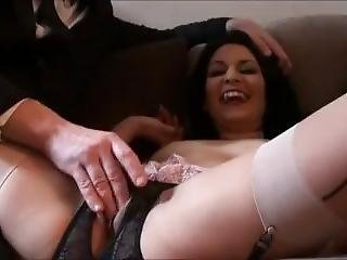 Dirty Mature Sub Slut Choking And Gagged For Big Cum