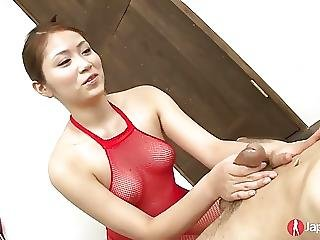 Tiny Japanese Teen Blows One Off