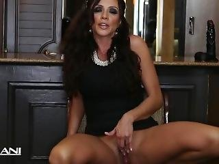 Hot Milf Ariella Ferrara Rams A Huge Black Dildo
