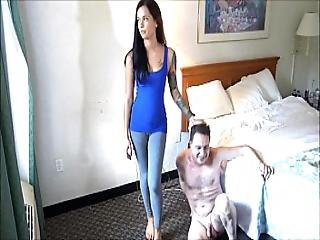 Ballbusting Goddess Hurricane Maria Marley Destroys The Balls Of Andrea Dipre