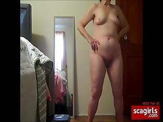 Naken posering
