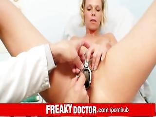 Dirty Doctor Fingering Hot Blonde Gabriela In Gyno Exam Room