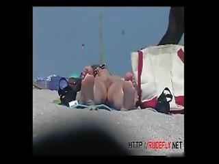 bañarse, playa, con cabello, nudista, publico, coño, blanco