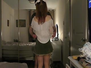 19 - Princess Bow Pigtails Fucked In Miniskirt By Older Man