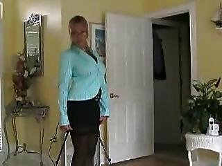 Business Woman Comes Home Has Sex