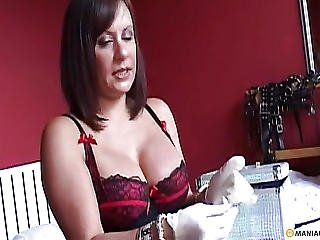 Big Tit, Bitch, Brunette, Fetish, Gloves, Mature, Sex