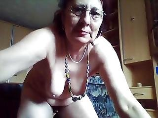 Kinky Hairy Granny Enjoys Peeing In The Bucket