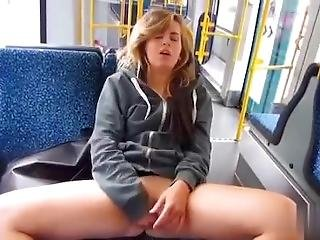 loira, alemão, masturbação, público, Adolescentes