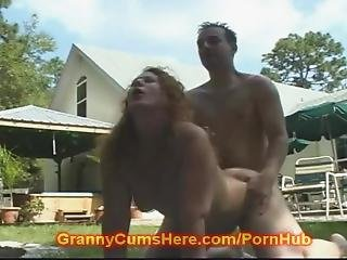 Granny Gets Fucked In Public