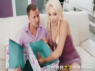 Blonde Bride To Be Gets A Big Gift Brazzers