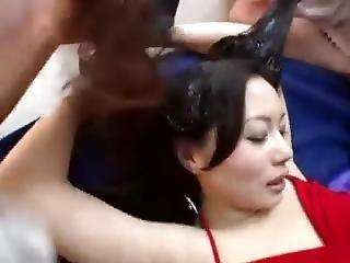 kuřba, fetiš, japonské, veřejné