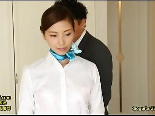 Japanese Angel Face Stewardess Provide Special Room Service To Vip Customer
