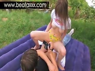 Teen Beata Sex Under The Sum