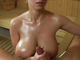 Huge Boobs Sauna