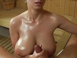 Huge Boobs Sauna