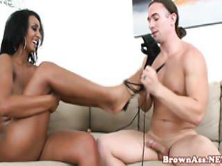 Gorgeous Ebony Babe Pussy Pounded