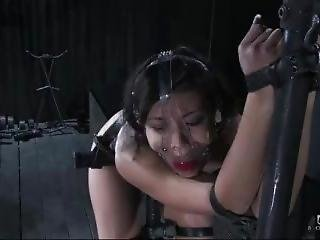 Jandi Lin In Metal Bondage