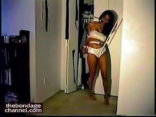 Big Tit Tied Up - Extreme Bondage Orgasm