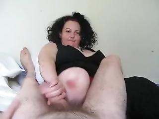 Amputee Rubbing Cock