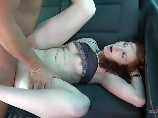 Ugly Redhead Won In Mall & Need To Have A Ride In Van With Naughty Guys