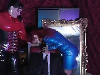 Double Domination Latex Boob Smother Mistrix Rubber Gumi Fetische Hom
