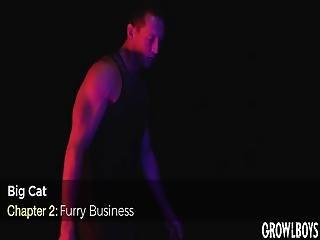 Werecat Furry Stud With Big Black Dick Barebacks Masc Bottom Muscle Jock