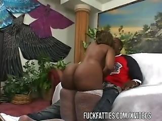 Black BBW Service Hoe Treat Her Man