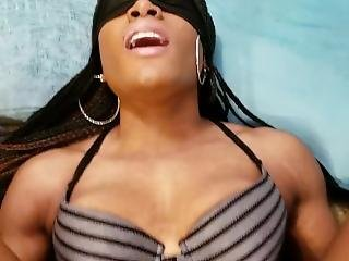 Black Girl Blowing, Riding, And Cumming On White Dick