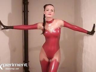 Red Latex Goddess - Valerie Tramell