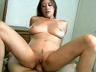 Filthy Amateur Chick Strips Off And Sits Her Juicy Pussy On Top Of Healthy Cock