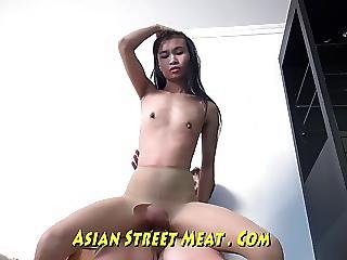 Rubbish Thai Waitress Services On All Fours