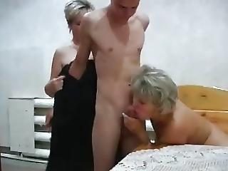 Lesbo, Vanha, Venäläinen, Sauna, Nuori